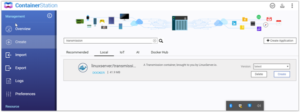 Install Transmission on Qnap with Docker the Easy way