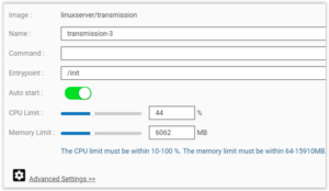 Install Transmission on Qnap with Docker the Easy way – Akash Jains
